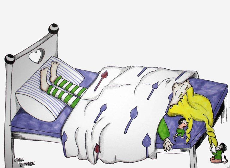 Barntavla säng