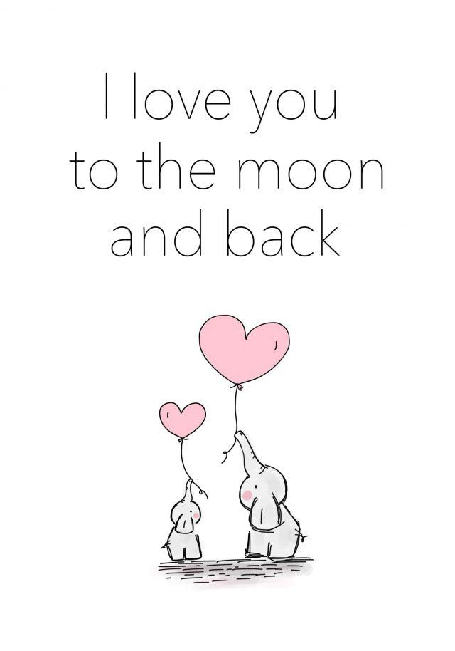 Barntavla elefant kärlek