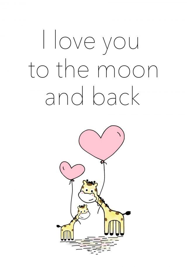 Giraff jag älskar dig