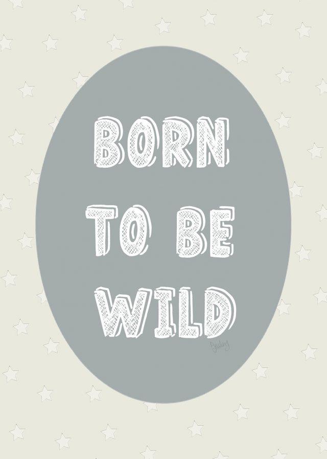 Barntavla born to be wild