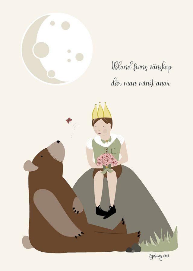 Prins och björn tavla
