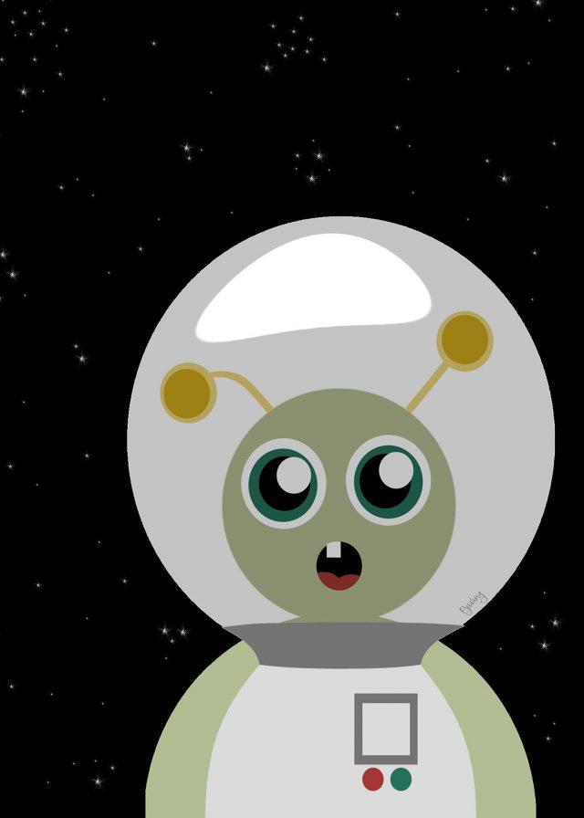 barntavla med rymdtema