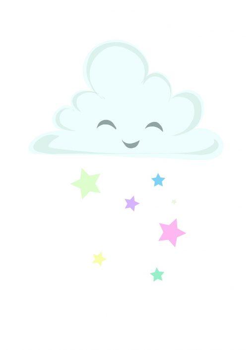 Happy cloud barntavla