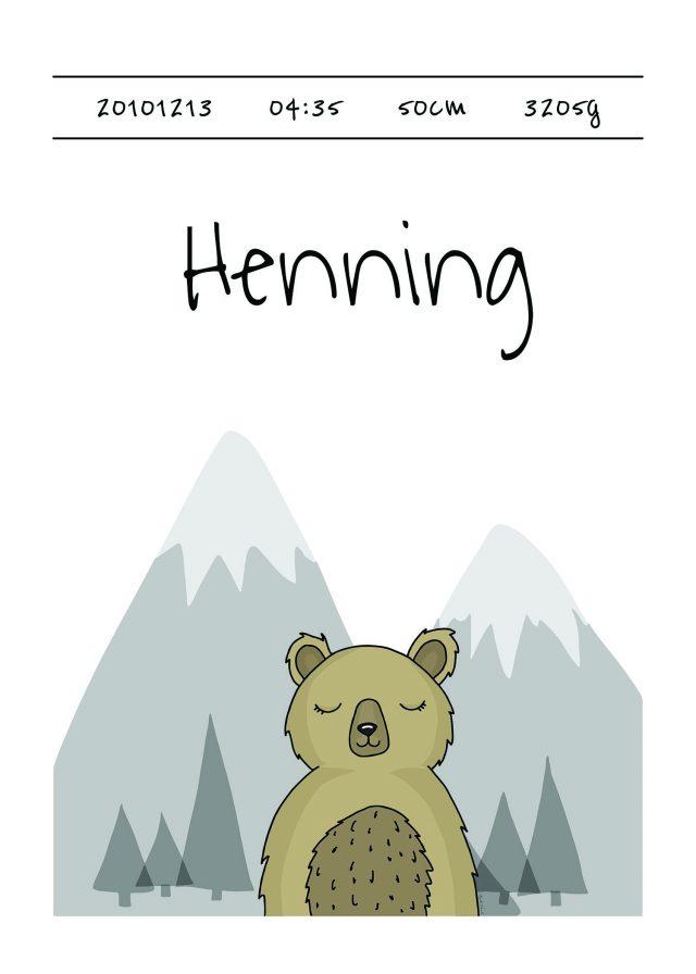 Födelsetavla lappland björn