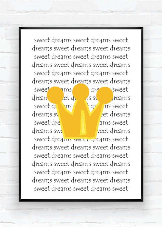 Sweet dreams barntavla