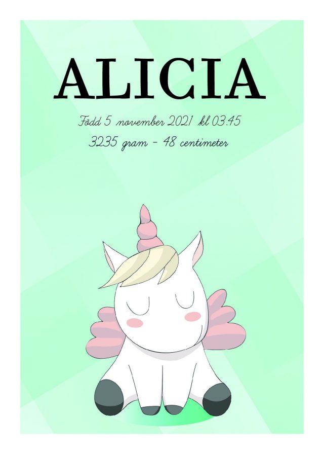 Unicorn namntavla