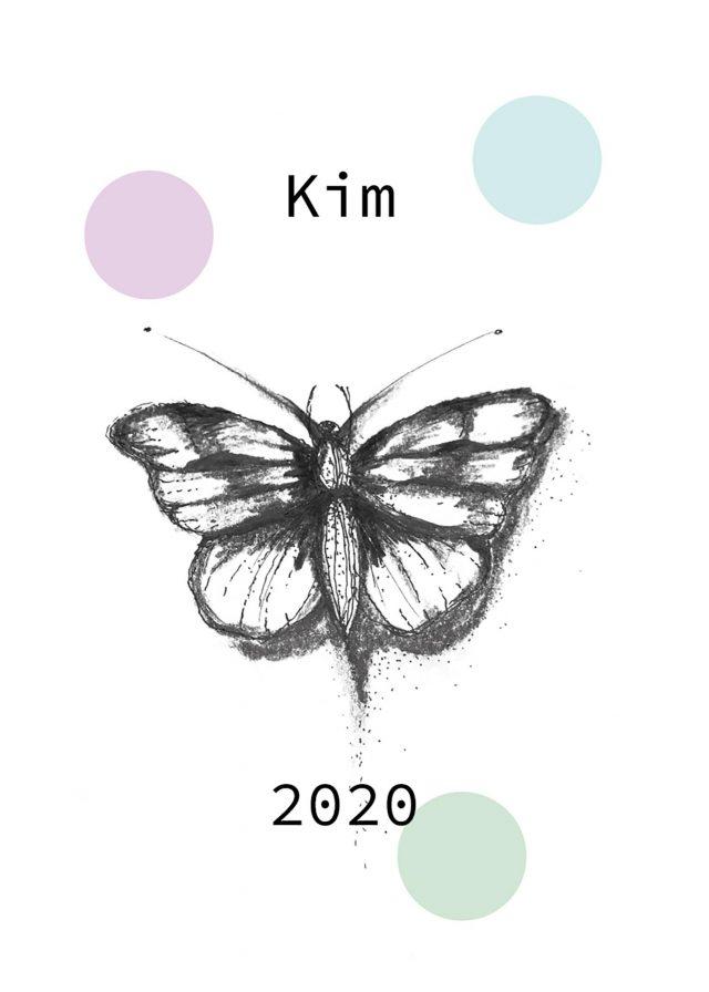 butterfly namntavla